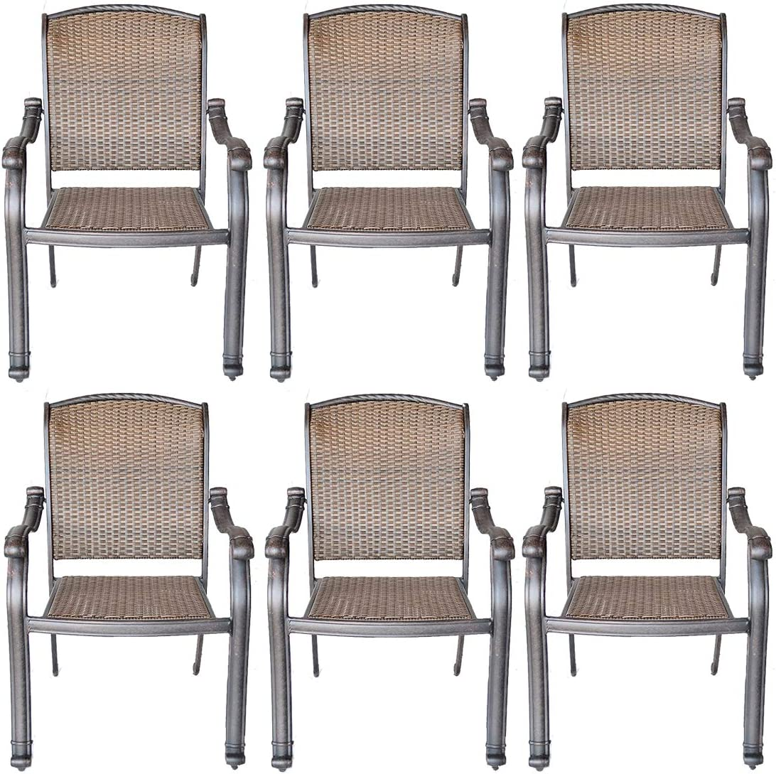 patio chairs set of 6 santa clara cast