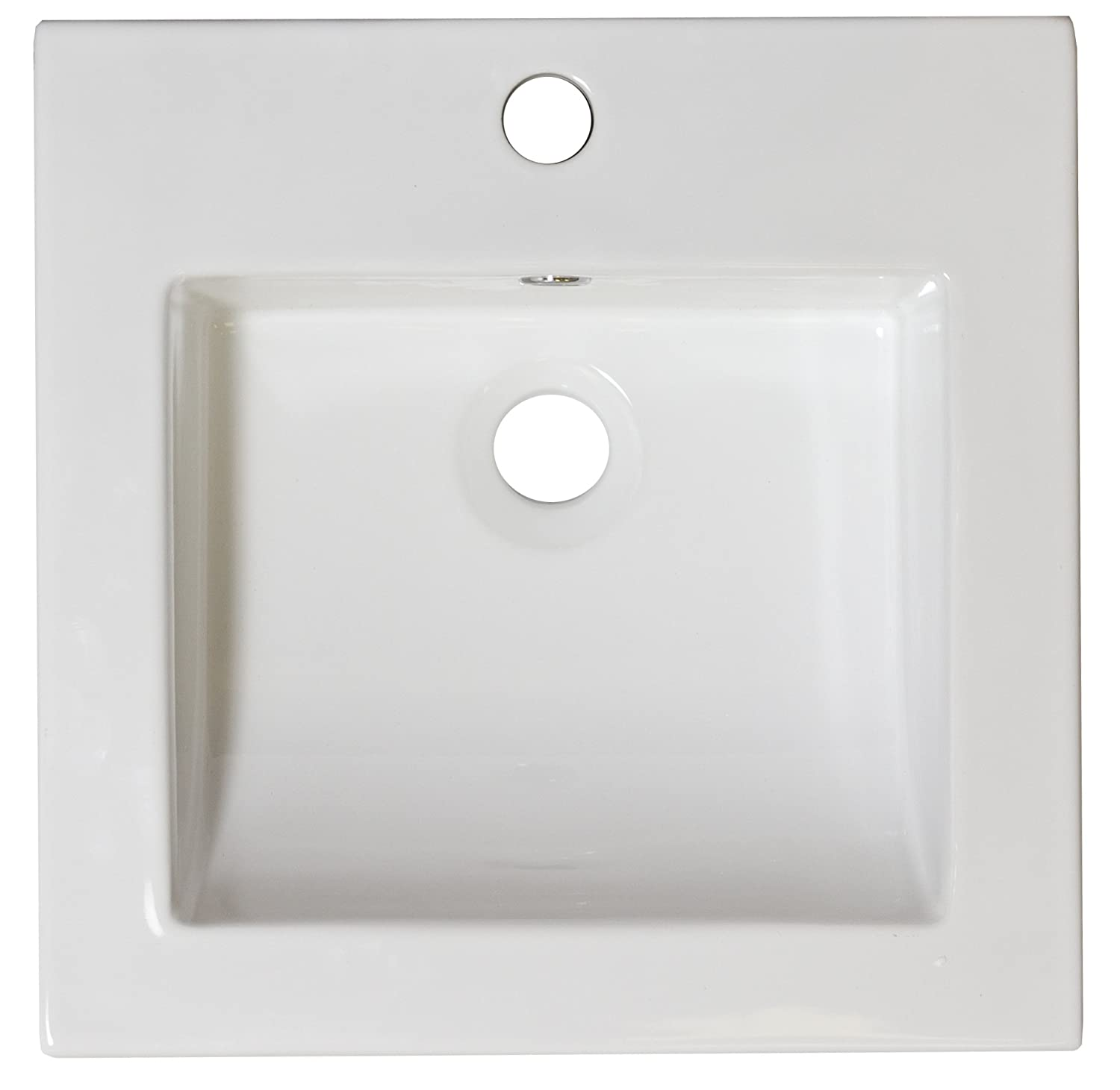 American Imaginations AI-1-1310 Ceramic Top for Single Hole Faucet, 16.5-Inch x 16.5-Inch, White