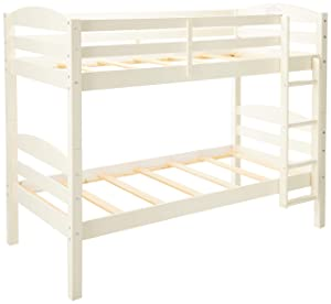 WE Furniture Solid Wood Twin Bunk Bed