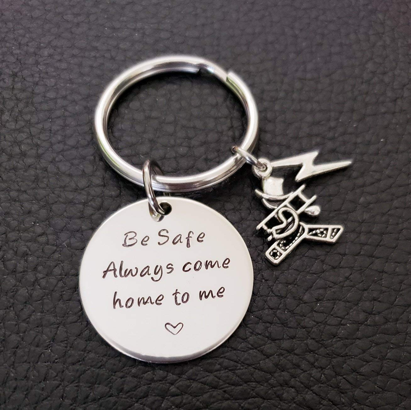 Lineman Be Safe Key Chain, Always Come Home to Me, Lineworker Be Safe Gift