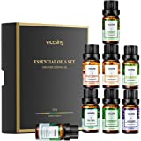 VicTsing Set de Regalo Essential Aceite (6 x 10 ml), Aceites 100% Puros para Difusores de Aceite: Lavanda, Limoncillo…