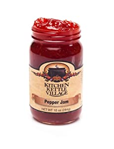 Pepper Jam, Kitchen Kettle Village (Amish Made), 10 Ounce Jars (Pack of 2)