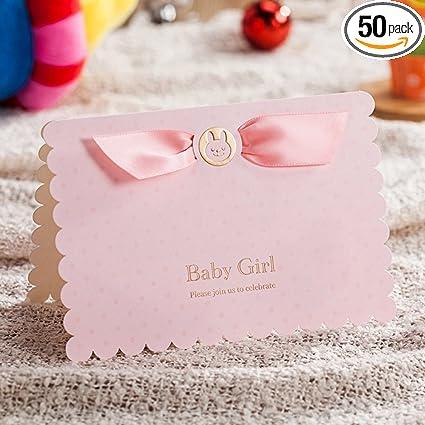 Chocolate Brown /& Pink DIY Printable Wedding Invitation Kit w// Ribbon 25 Count