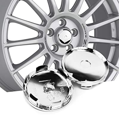 68.5mm(2.7in)/64mm(2.52in) Wheel Hub Center Caps Silver Base Set of 4 for #M653 Leggera-HLT 19 20 inch PCD 5-120 Wheel: Automotive