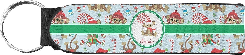 Christmas Monkeys Keychain Fob (Personalized)