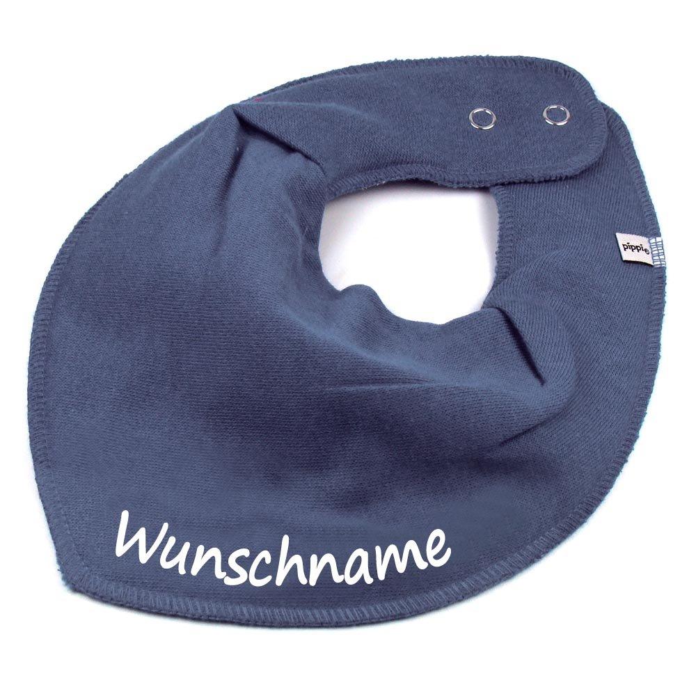 HALSTUCH mit Namen oder Text personalisiert khaki f/ür Baby oder Kind