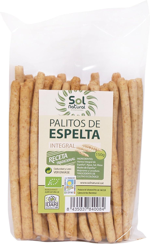 Sol Natural Palitos de Espelta Integral - Paquete de 16 x 150 gr ...