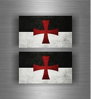 Bataille chevaliers-Templiers-DRAPEAU 3 X 3 X 1,5 5 m