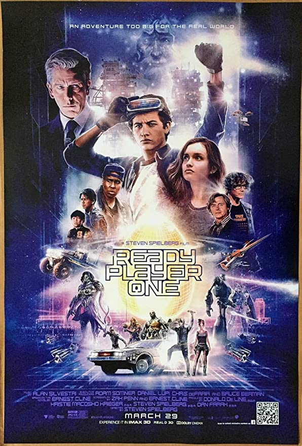 Ready Player One Movie Poster 2 Sided Original Rare Final 27x40 Steven Spielberg Everything Else
