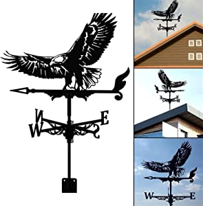RSBCSHI Weather Vane Bald Eagle, Stainless Steel Spray Paint Outdoor Wrought Iron Roof Roof Decoration Farm Pavilion Yard Lawn Courtyard Garden Decoration