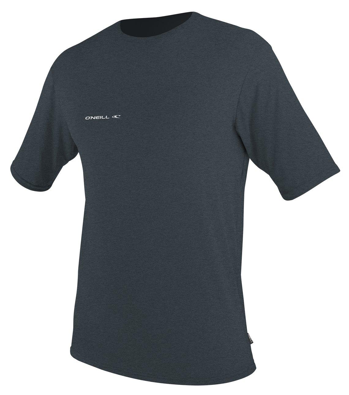 O'Neill  Men's Hybrid UPF 50+ Short Sleeve Sun Shirt, Slate,Small
