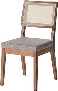 Manhattan Comfort Pell Dining Chair, Grey/Maple Cream