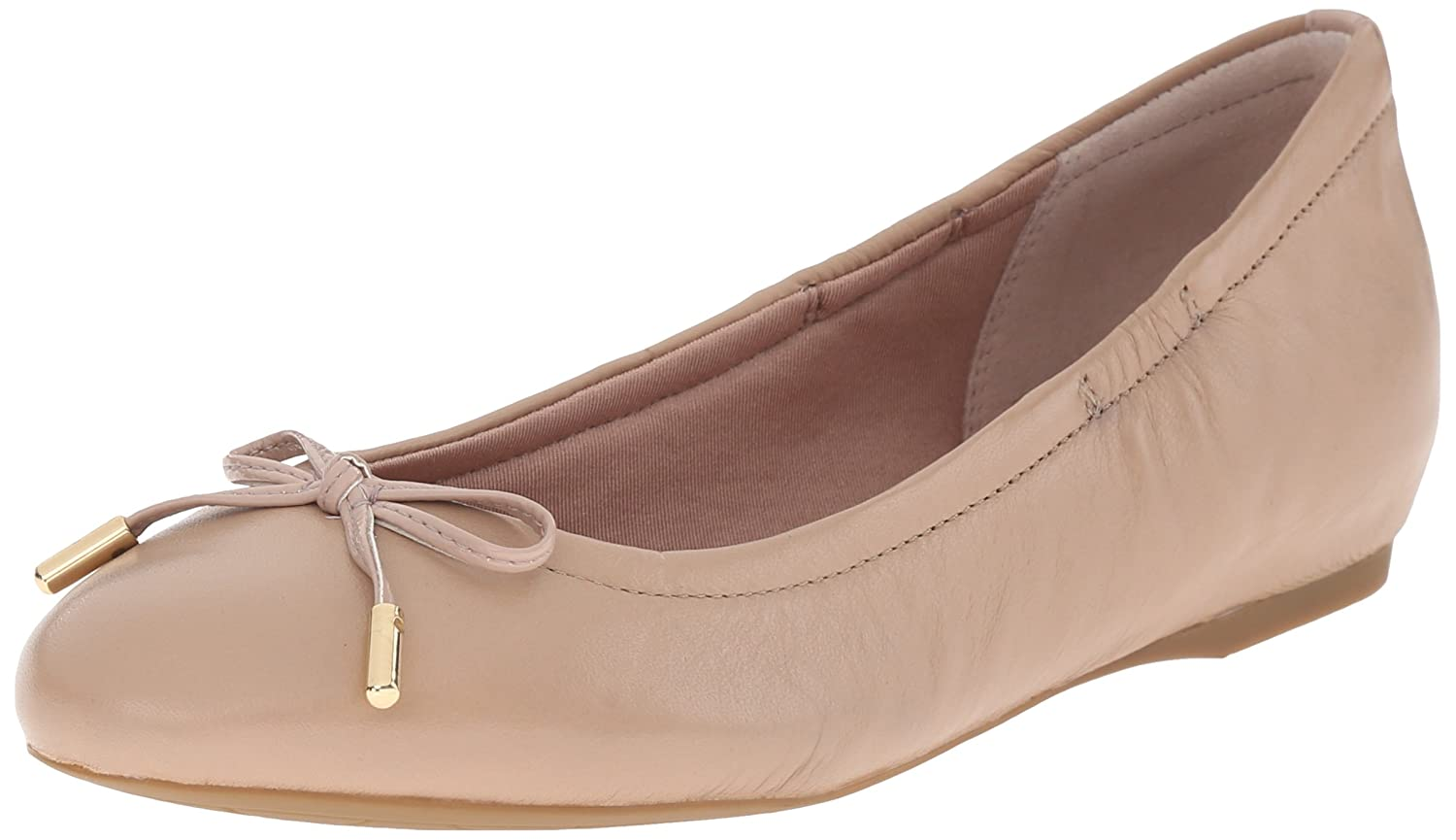 Rockport Women's Total Motion 20mm Bow Ballet B013QWNQ4U 6.5 B(M) US|Warm Taupe Nappa