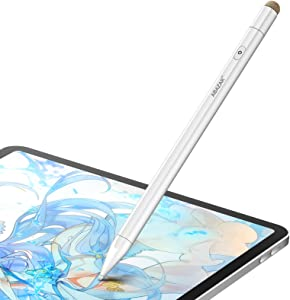 Stylus Pen for iPad with Palm Rejection and Magnetic Design, Rechargeable 2 in 1 Active Pencil Compatible with (2018-2020) Apple iPad Pro (11/12.9 inch)/ iPad 6/7th / Air 3rd / Mini 5th Gen