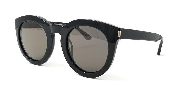 Saint Laurent Unisex-Erwachsene Sonnenbrille SL 102 001, Black/Grey, 47