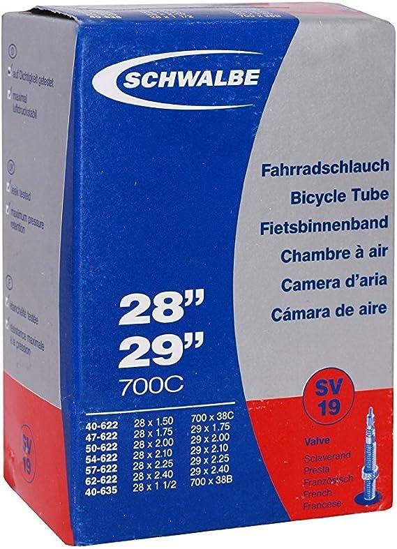 """Schwalbe 10930343V Fahrradschlauch Schwarz 28//27,5/"""" 40//62-584//635 18-HD5726//142"""