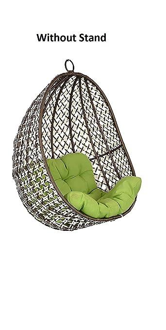 "FurniFutureâ""¢ Netarian Outdoor Hanging Swing Chair Without Stand - (Golden White)"