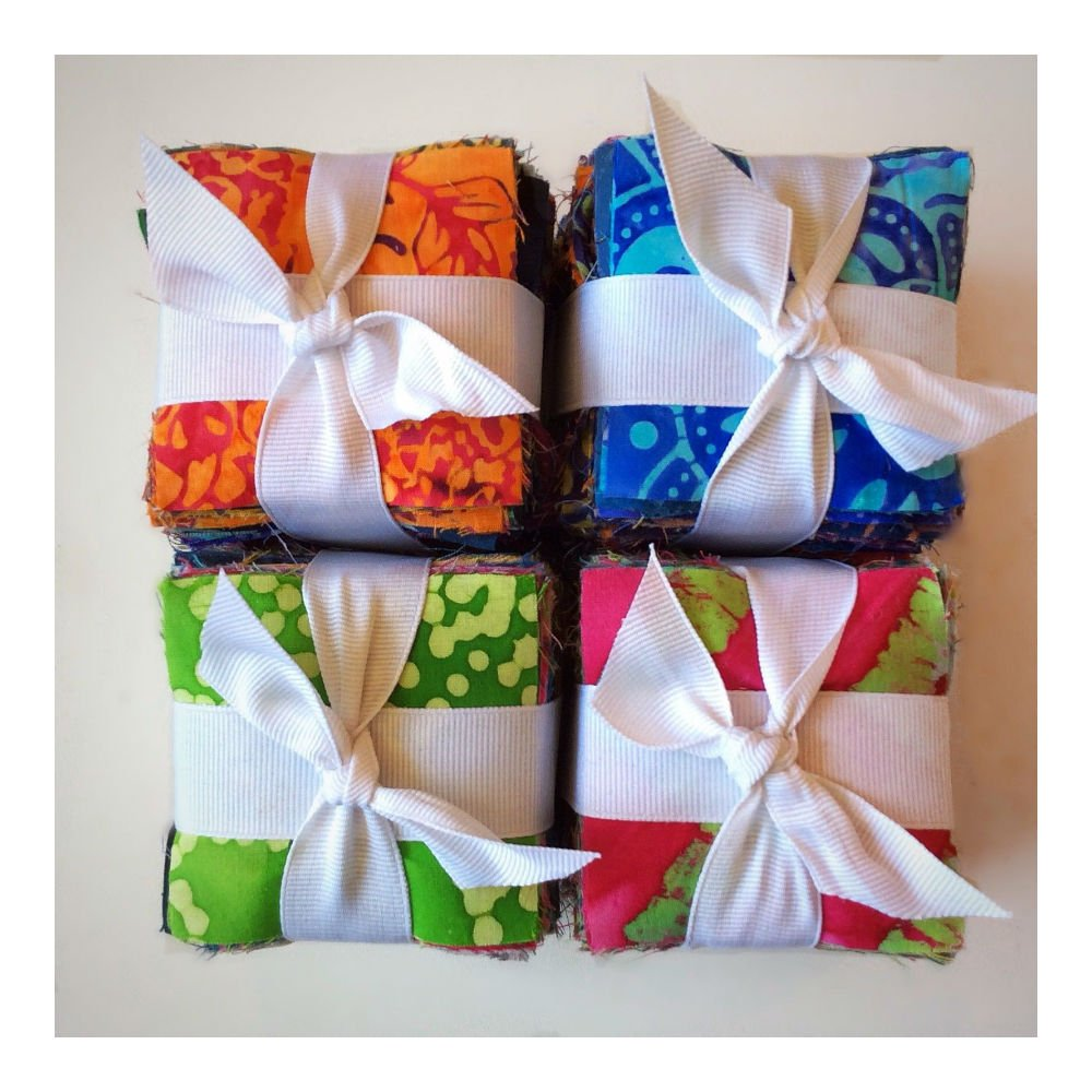 200 Assorted pre cut charm pack 2.5 squares 100/% cotton fabric quilt scrap