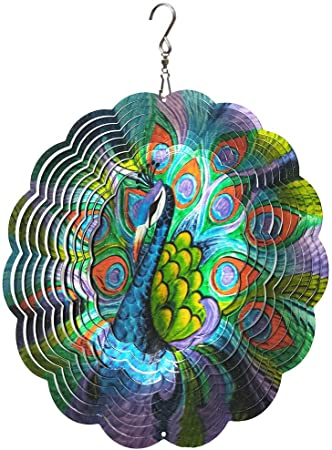 FONMY Kinetic 3D Metal Garden Wind Spinner Quality Hanging Ornament for Home and