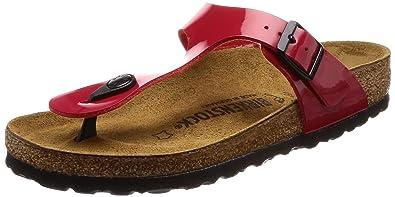 6d90475ae2c04 Birkenstock Men s Gizeh Patent Tango Red Birko Flor Sandals 37 (Narrow)