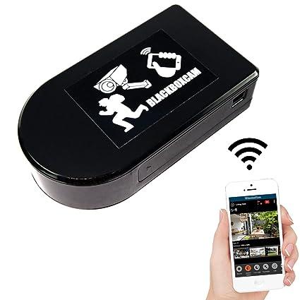 Cámara de seguridad Wifi con objetivo rotativo de 180°, puede ser operada a través de una aplicación ...