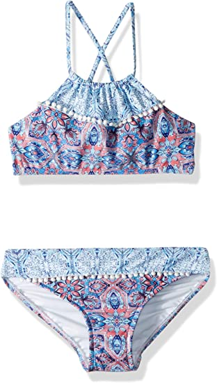 Seafolly Girls Big Ruched Neck Tankini Swimsuit