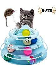 Legendog Katzenspielzeug, Vier Schichten Tierspielzeug Kätzchen Spielzeug Intelligenz Crazy Interactive Katzenspielzeug Tray-Spiel für Katzen