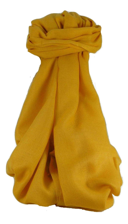 Fine Cashmere Scarf Karakoram BirdsEye Weave Buttercup by Pashmina & Silk