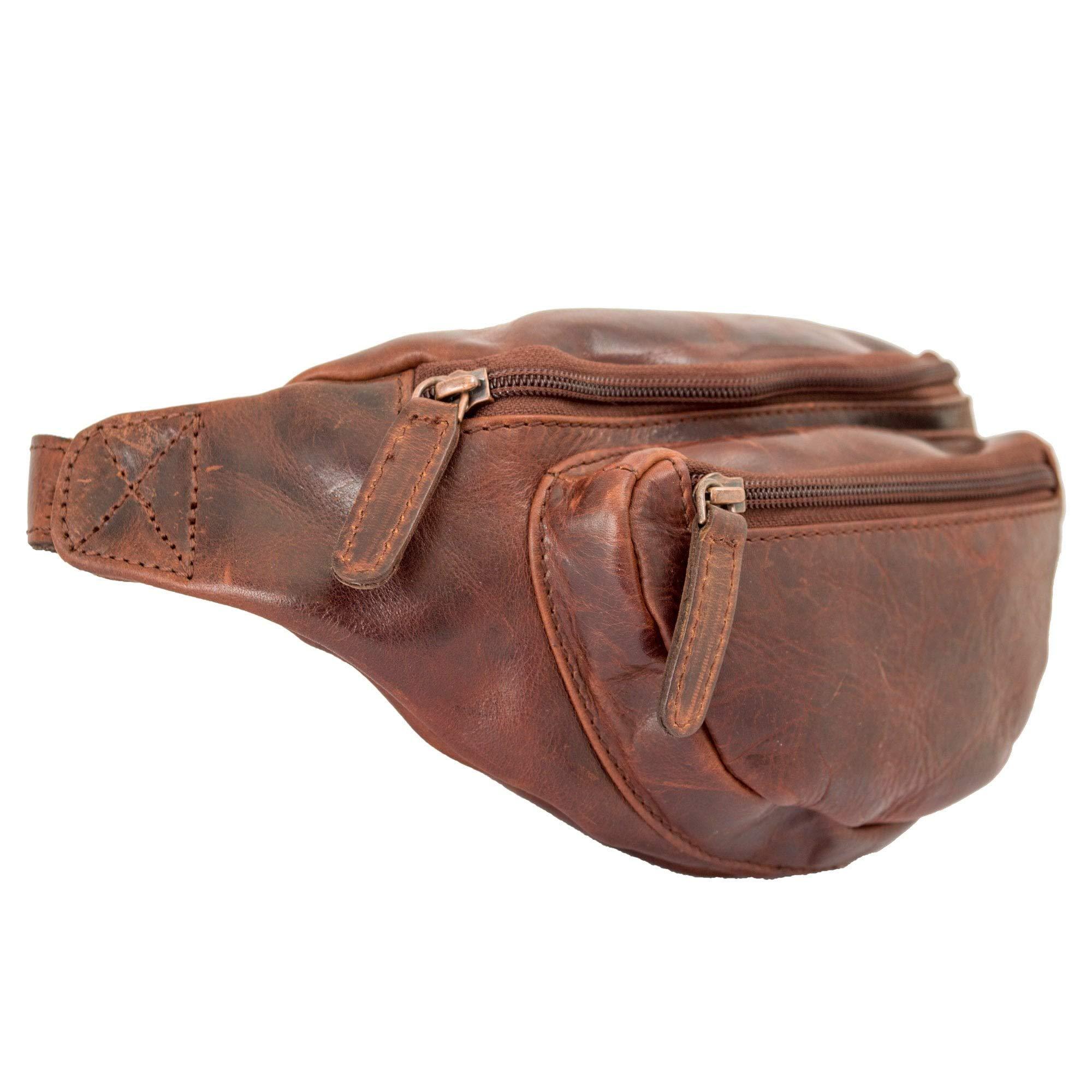 Ashwood Highbury Leather Tan Belt Bag Ed Tan