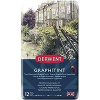 Derwent Graphıtınt Serisi Renkli Grafit Kalem Seti - 12 Renk Metal Kutu