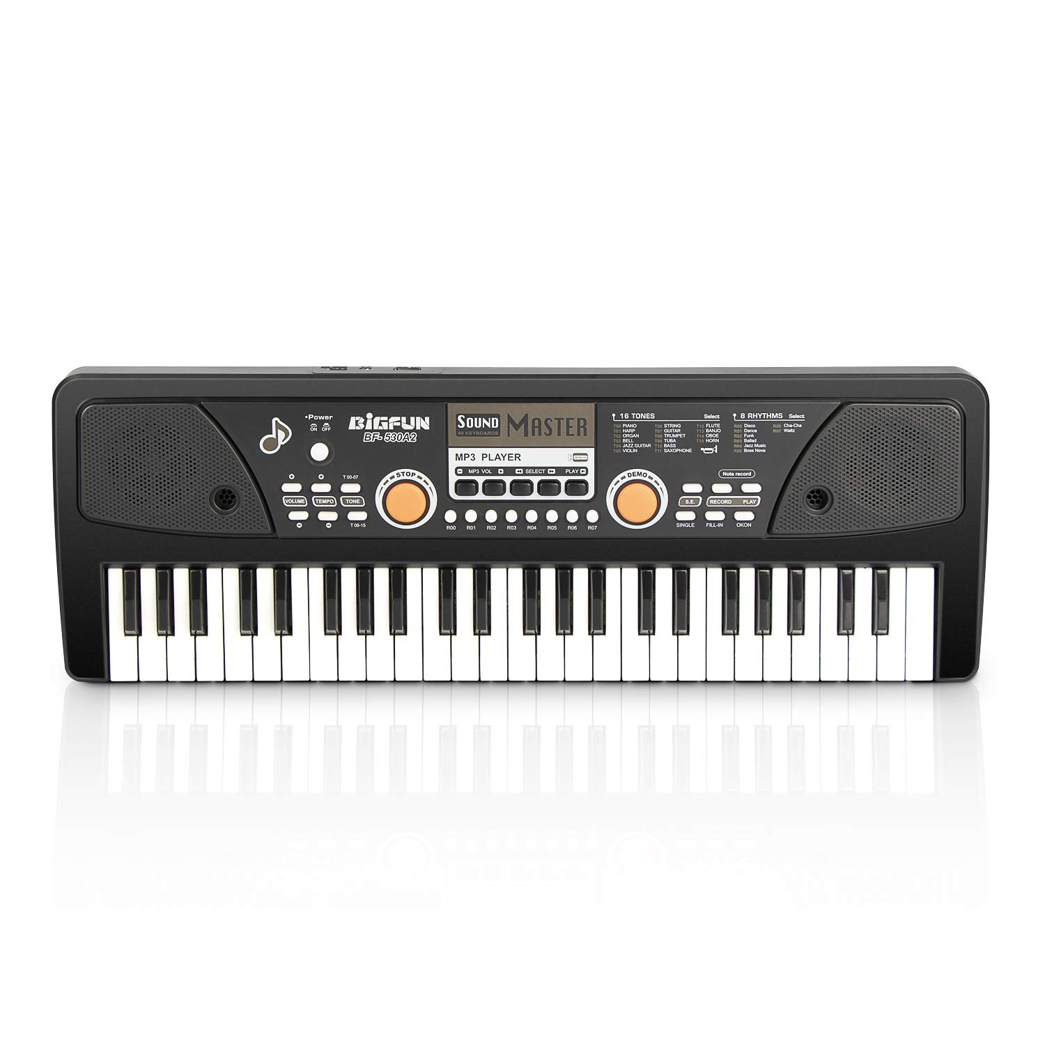 AIMEDYOU 49 Keys Piano Keyboard for Kids Multifunction Portable Piano Electronic Keyboard Music Instrument Birthday Xmas Day Gifts for Kids