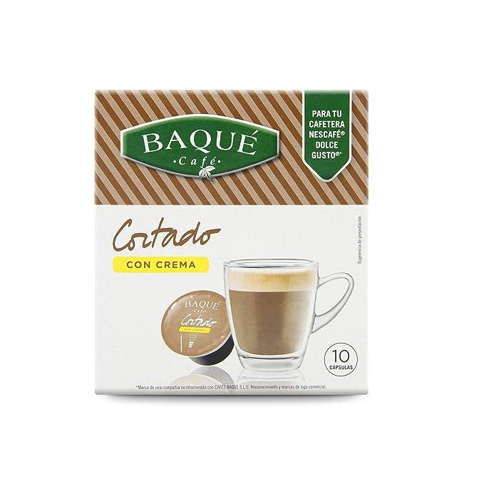 Cafés Baqué Capsulas Compatibles Dolce Gusto Café Cortado con ...