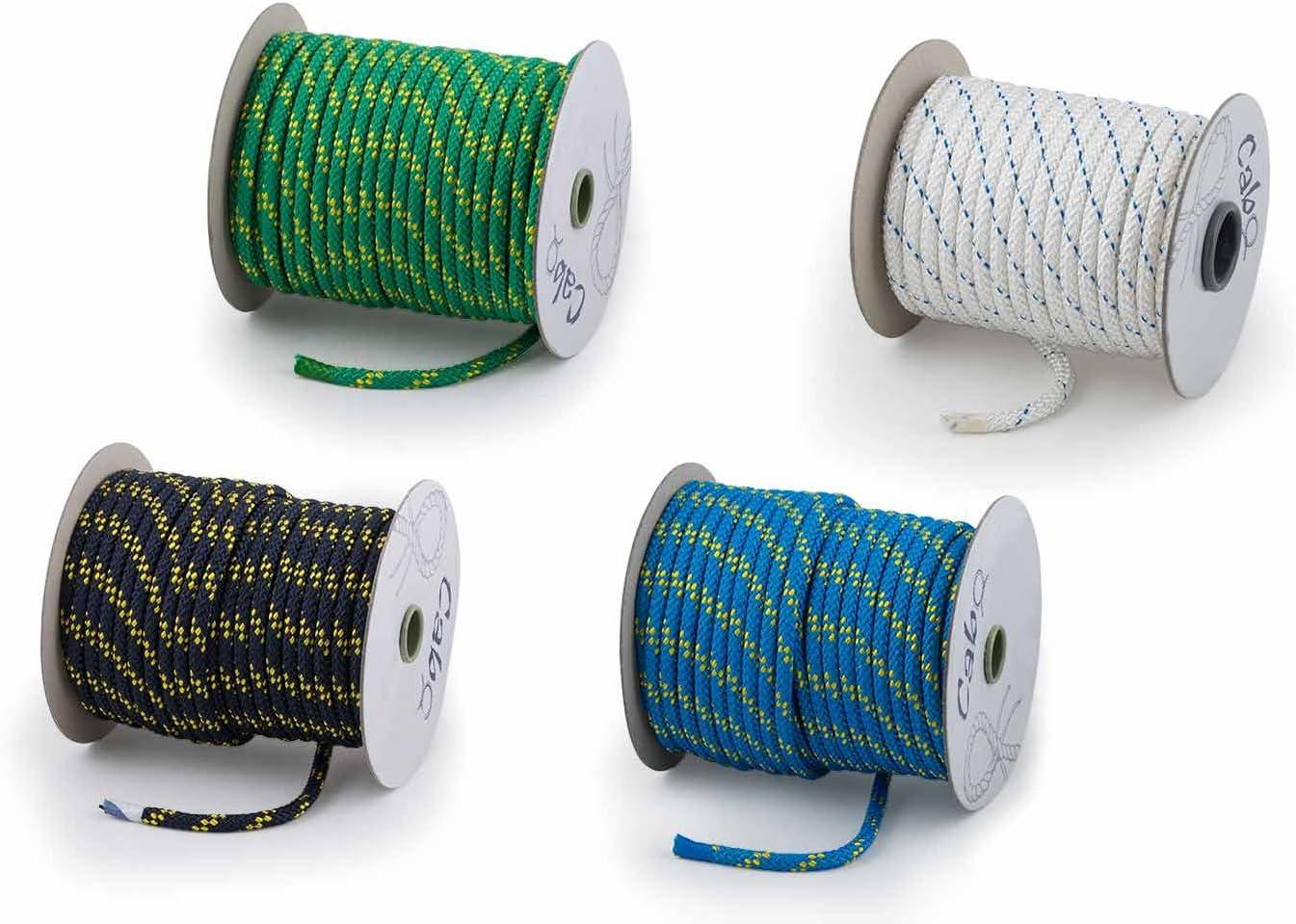 Polyesterseil Polyester Seil 6mm 50m Schwarz Geflochten PES Tauwerk Leine