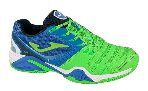 Zapatilla Padel Joma T.SET 715 ROYAL-FLUOR T-44: Amazon.es: Zapatos y complementos