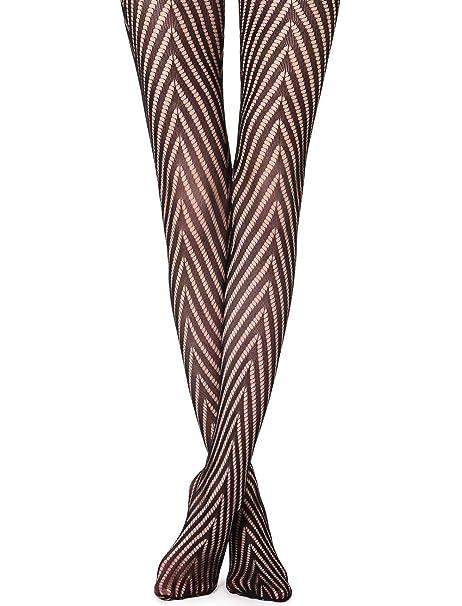 6bc87e59f4b Calzedonia Womens Macro chevron fishnet tights at Amazon Women s Clothing  store