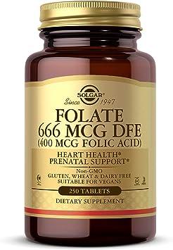 Solgar® Folacín (ácido fólico) 400 µg para embarazo y concepción - 250 comprimidos