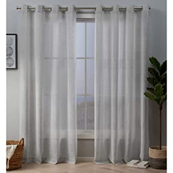 Silver Exclusive Home Curtains Crest Panel Pair 54x84