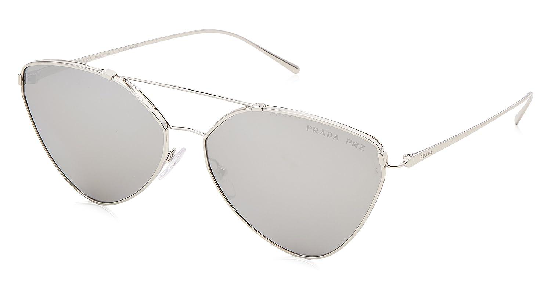 Prada Damen Sonnenbrille 0PR51US 1BC097, Silber (Silver/Polargrey Silver), 62