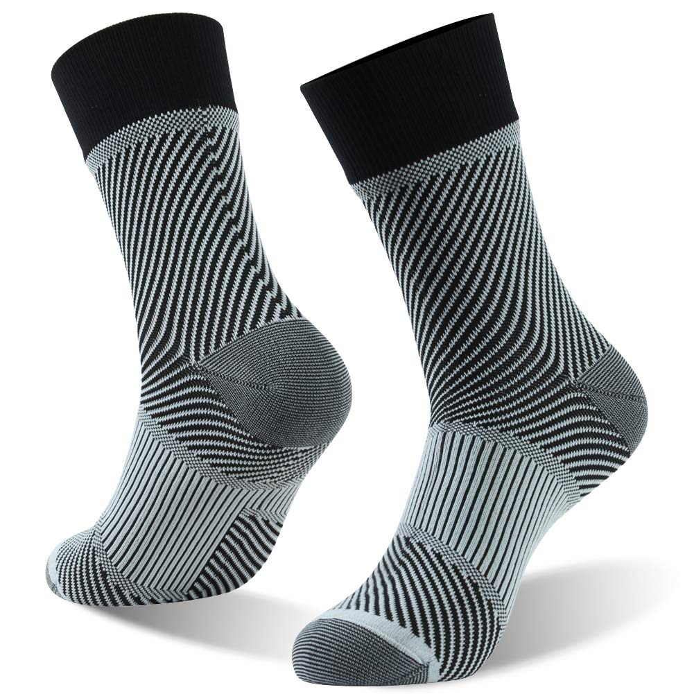 RANDY SUN Waterproof Socks, Ultralight Mid Calf Athletic Socks for Men and Women, New Weaving Technique for Better Image and Color, 1 Pair-Black X-Small by RANDY SUN