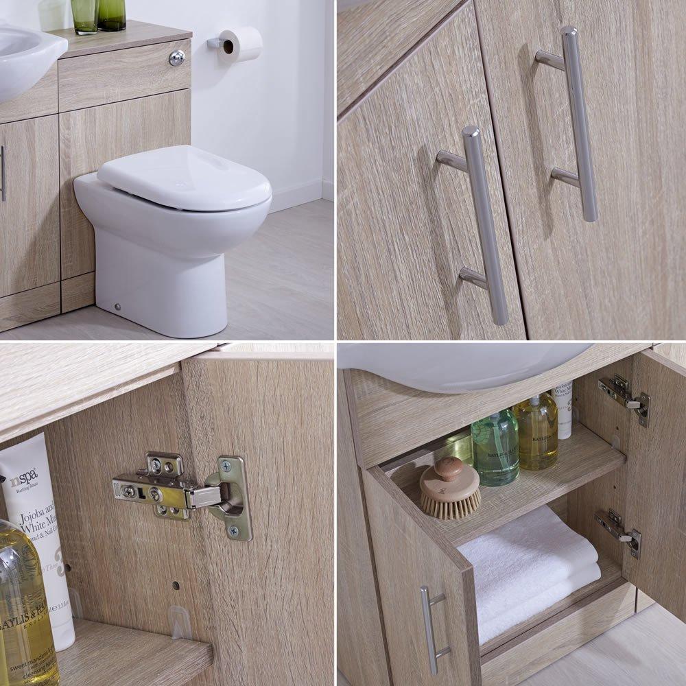 Meuble Salle De Bain Mvm ~ hudson reed meuble lavabo toilette wc 51 x 78 x 30cm