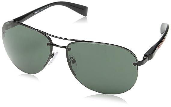 7d8467901eb39 Prada Linea Rossa Men s PS 56MS Sunglasses Black Gray Green 62mm at ...