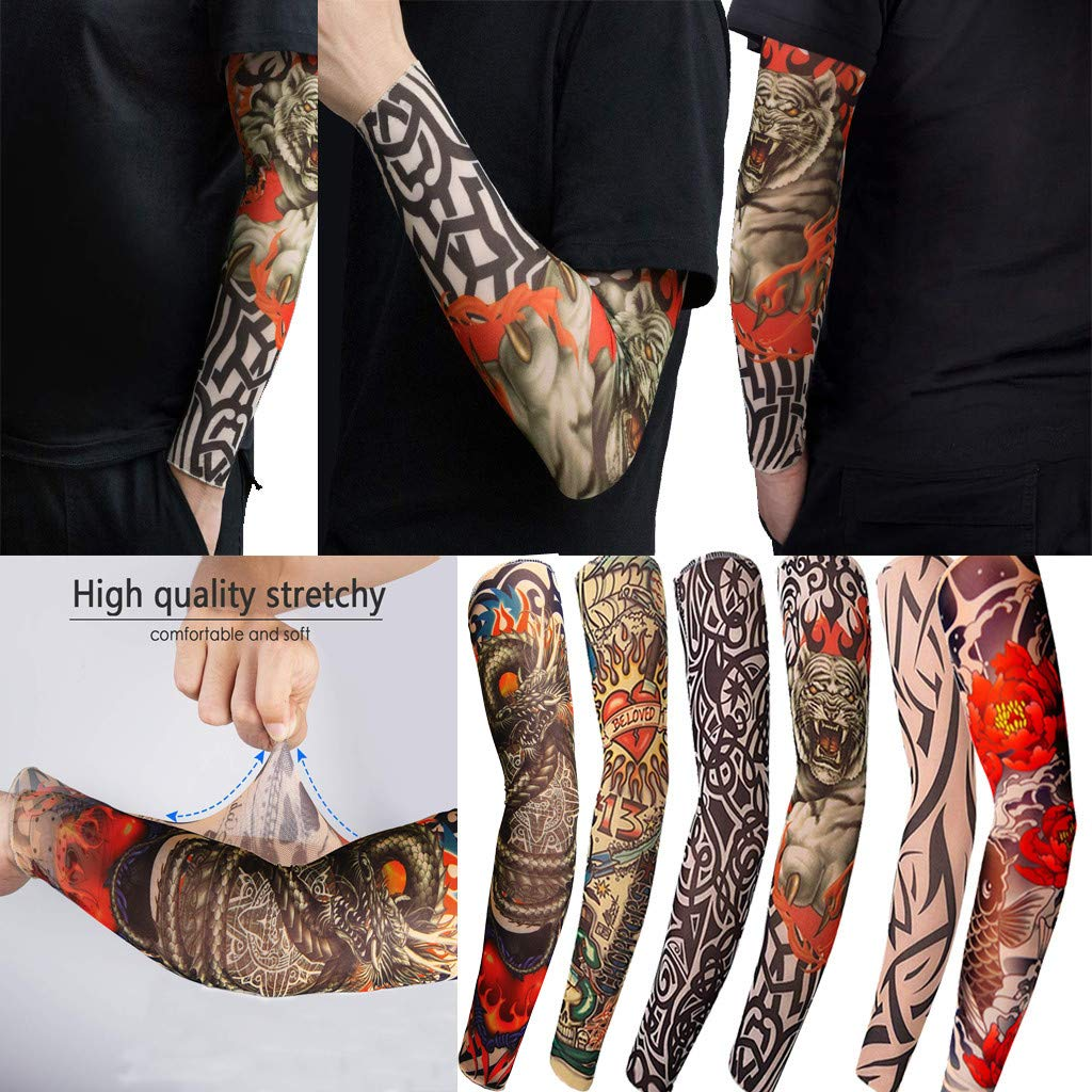 Buy Clothful Men S Underwear Clearance Sunscreen Temporary Tattoo Sleeves Body Art Arm Stockings Slip Accessories At Amazon In