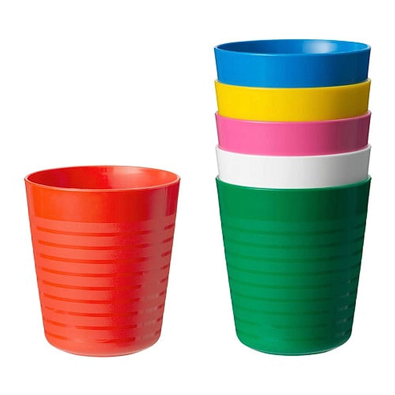 IKEA Kalas Set de 6 vasos infantiles, aptos para microondas y ...