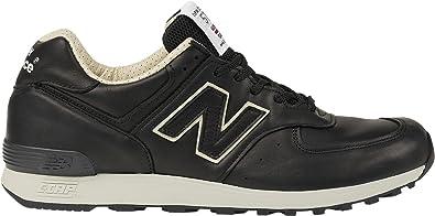 new balance cuir noir et or