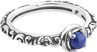 product image for Carolyn Pollack Sterling Silver Gemstone Single Round Stone Band Ring - Choice of Gemstones