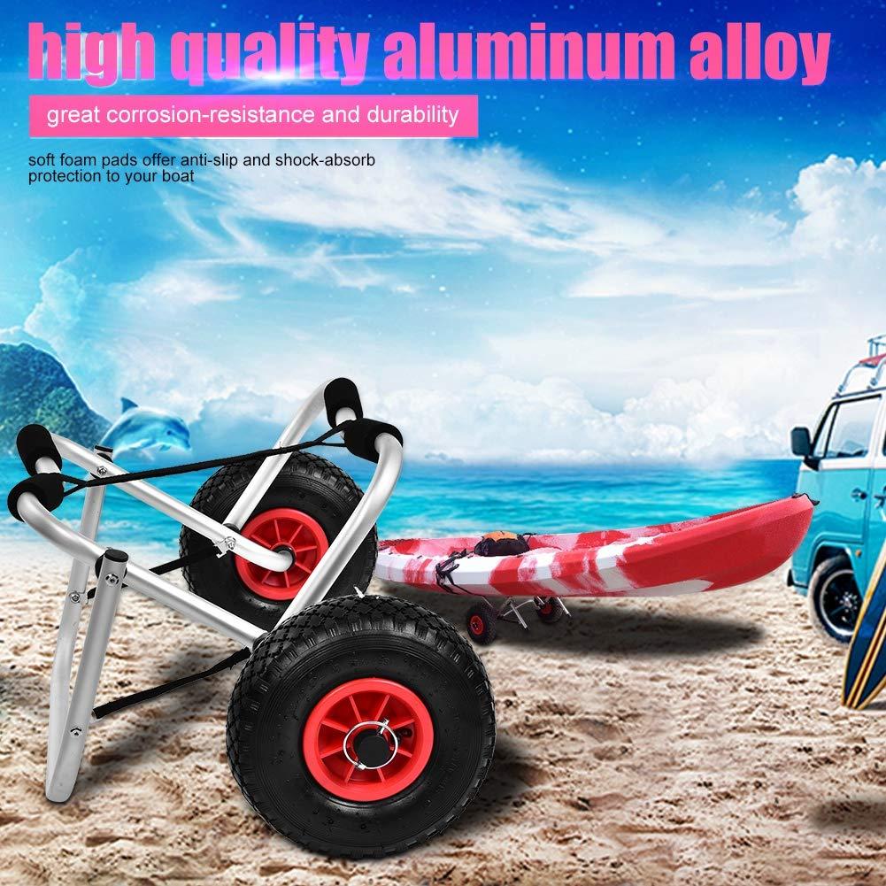para Transporte de Canoa o Kayak hasta 80 kg de aleaci/ón de Aluminio Estink- Carrito de Kayak