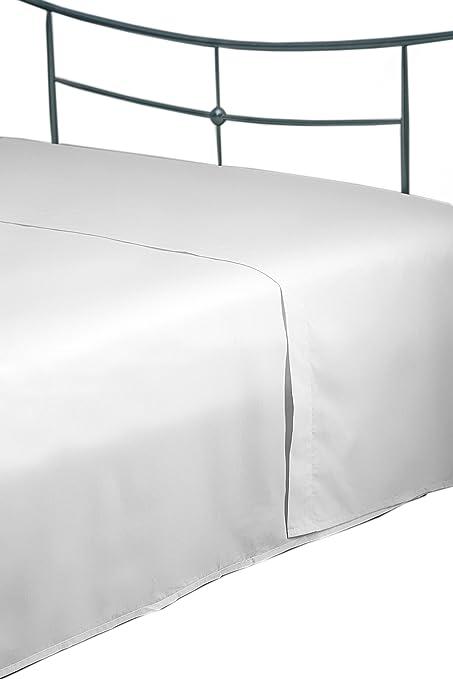 Belledorm - Sábana (Densidad de Hilos 400, 100% algodón Egipcio), Color Blanco: Amazon.es: Hogar