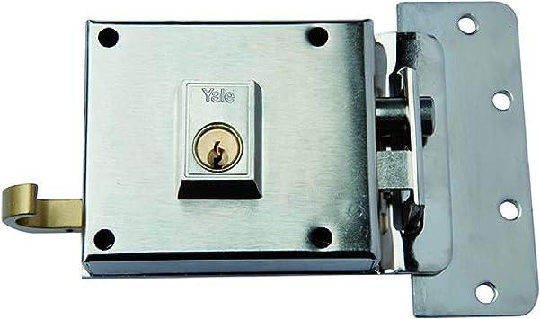 Yale 612DHN Cerradura de Sobreponer, 6. A Mano Derecha Entrada 60 mm / Dcha Hierro Niquelado: Amazon.es: Bricolaje y herramientas