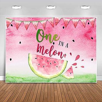 Summer Watermelon Painting Fruit Party Backdrop,Watermelon Newborn Baby Kids Photography Background,Watermelon Theme Baby Portrait Backdrop