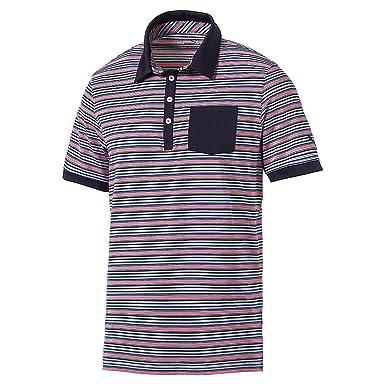 Puma Golf 2017 para Hombre Tailored Bolsillo Polo de Rayas, Hombre ...